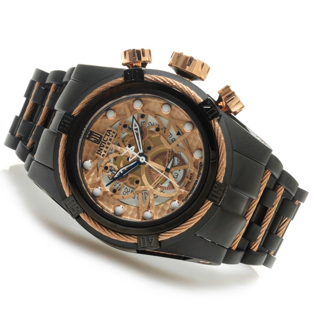 625-637 - Invicta Reserve Men's Jason Taylor Bolt Zeus Swiss Made COSC Quartz Bracelet Watch