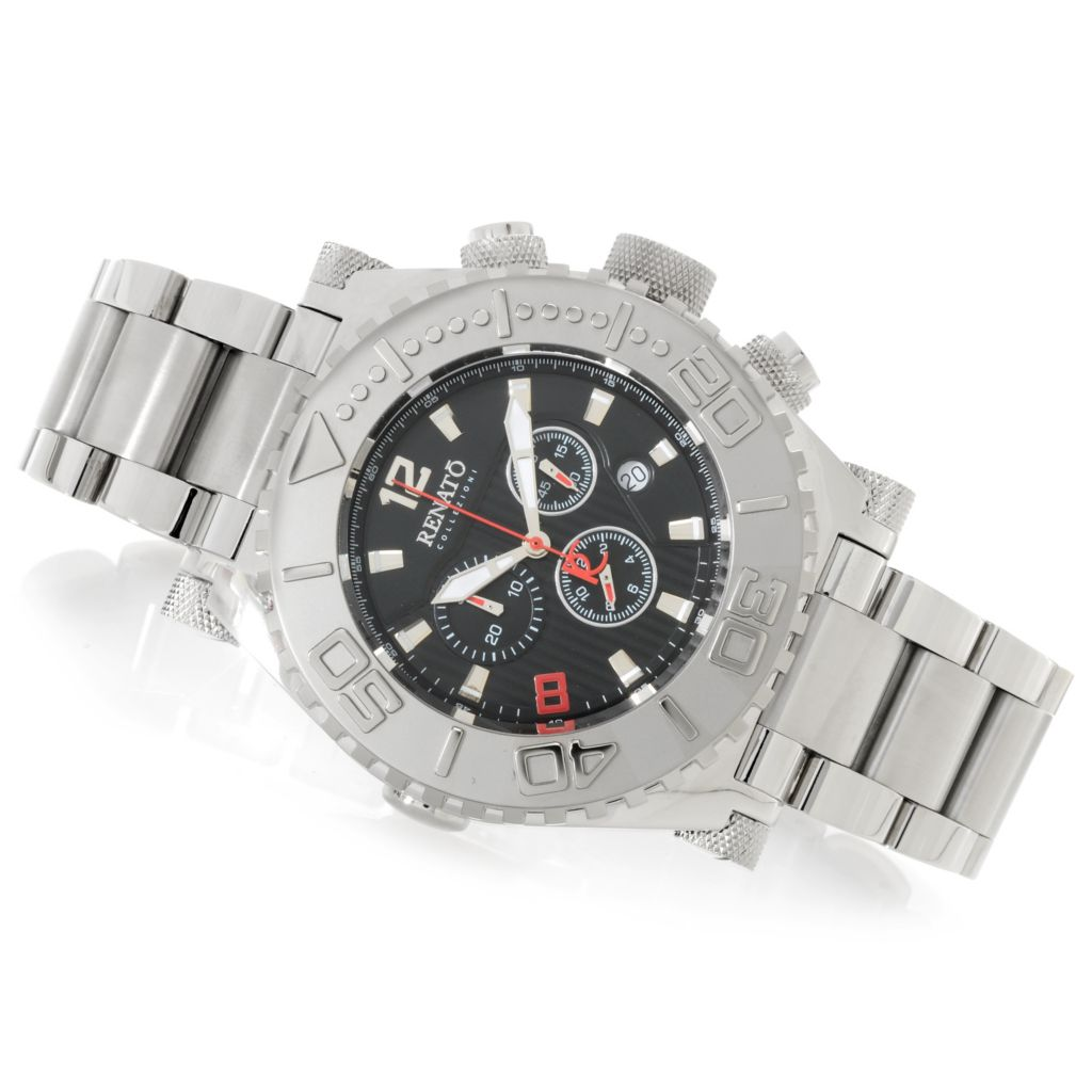 625-650 - Renato Men's Emporium Swiss Quartz Chronograph Stainless Steel Bracelet Watch
