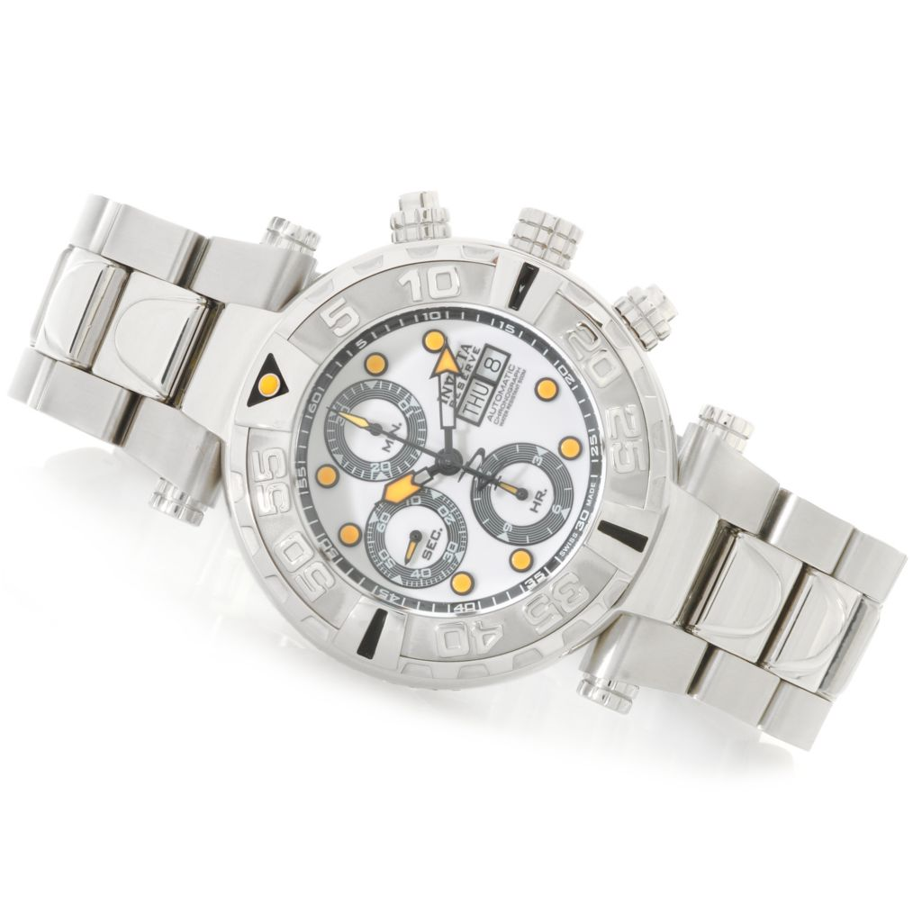 625-653 - Invicta Reserve 47mm Subaqua Noma I Swiss Valjoux 7750 Bracelet Watch w/ One-Slot Dive Case