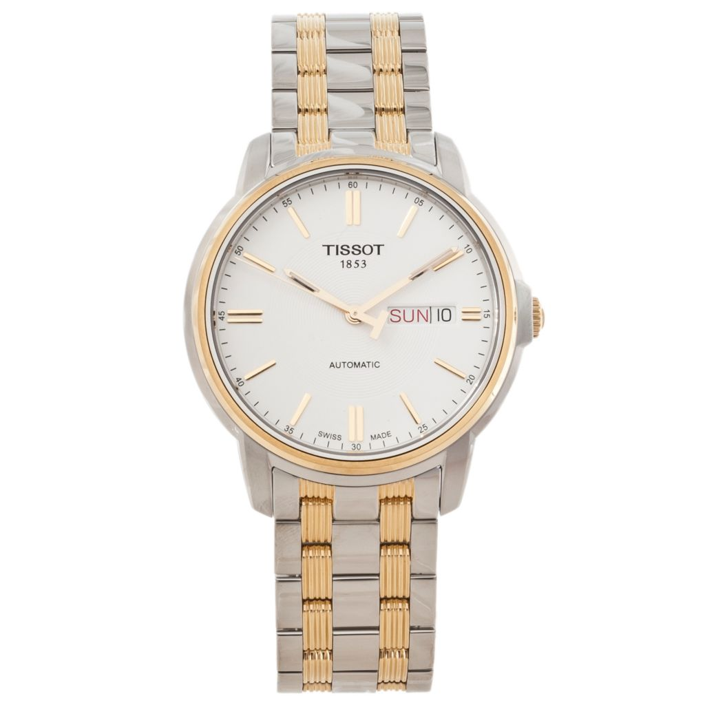 625-660 - Tissot Men's Automatics III Swiss Automatic Stainless Steel Bracelet Watch