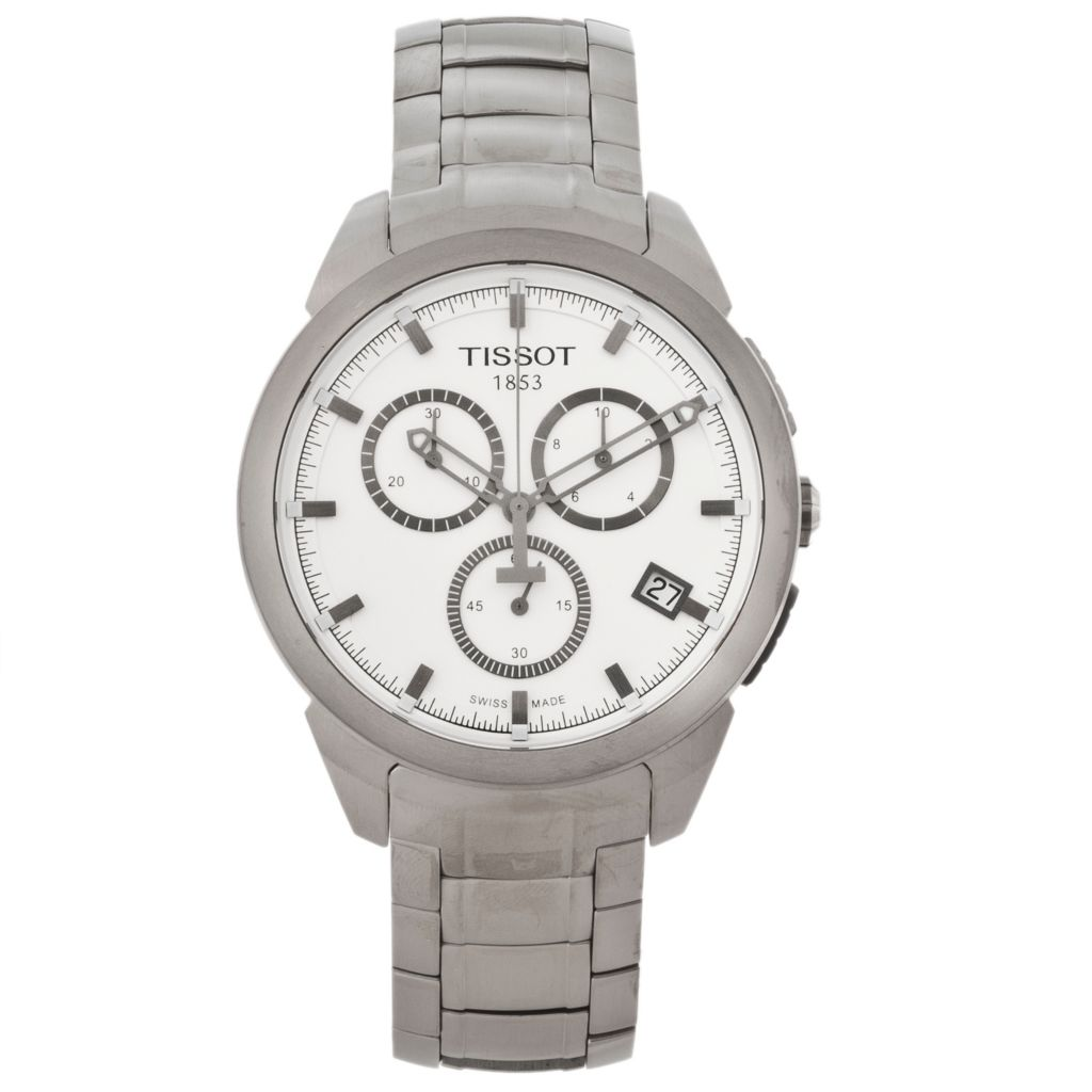 625-661 - Tissot Men's Titanium Swiss Quartz Chronograph Titanium Bracelet Watch