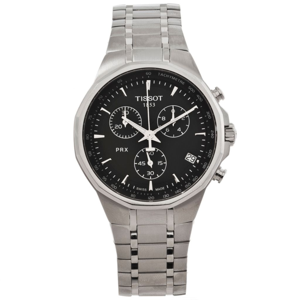 625-669 - Tissot Men's PRX Swiss Made Quartz Chronograph Stainless Steel Bracelet Watch