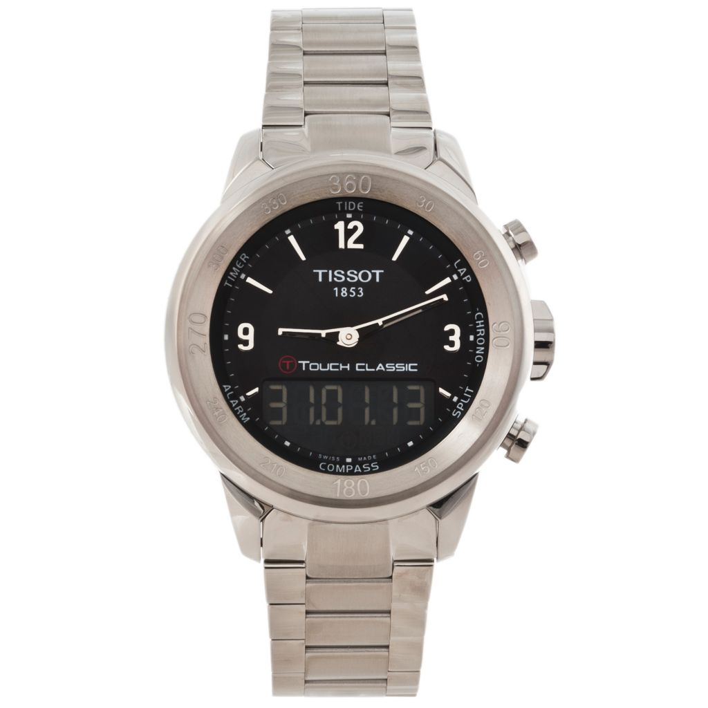 625-679 - Tissot Men's T-Touch Classic Swiss Made Electronic LCD Ana-Digi Stainless Steel Bracelet Watch