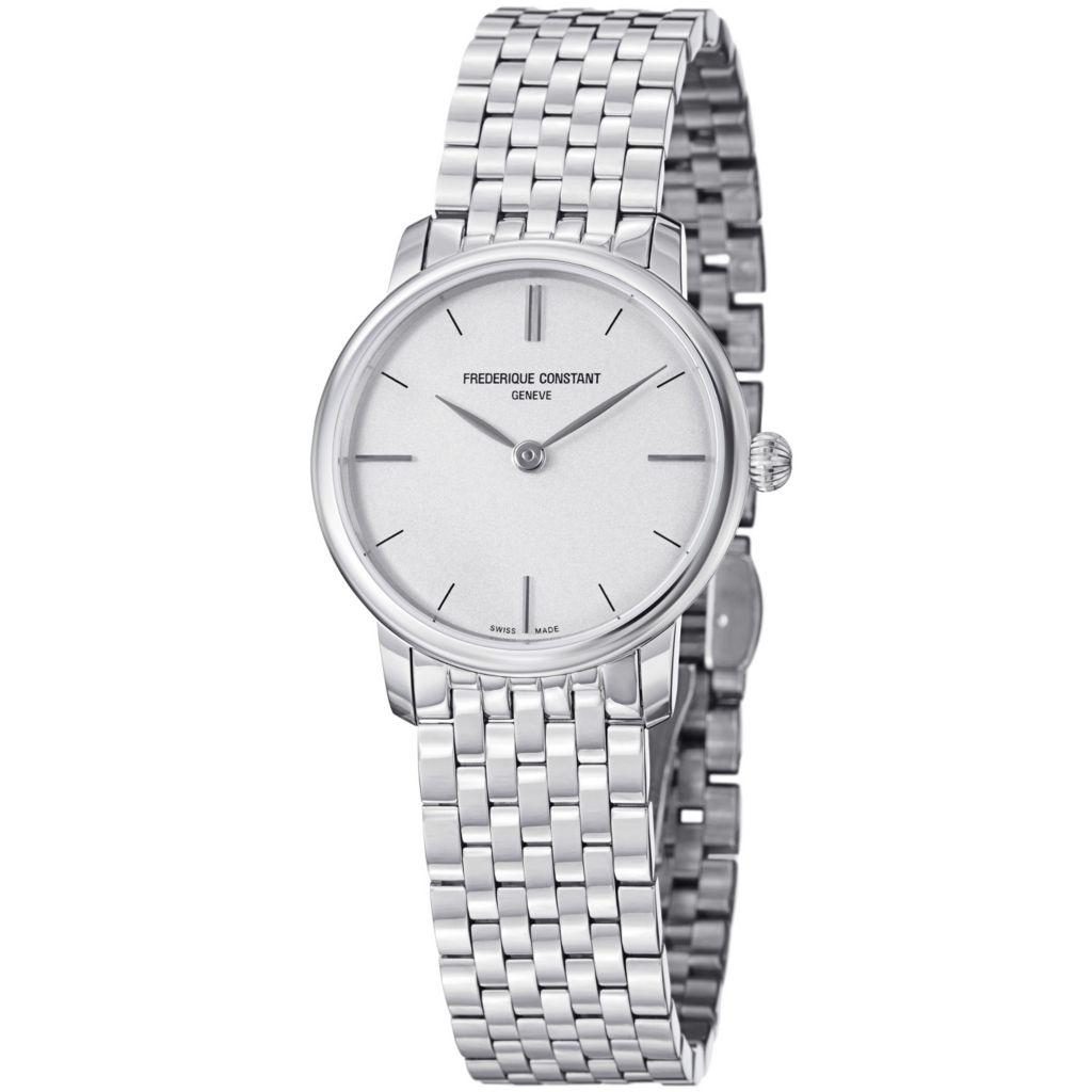 625-685 - Frederique Constant Women's Slim Line Quartz Stainless Steel Bracelet Watch
