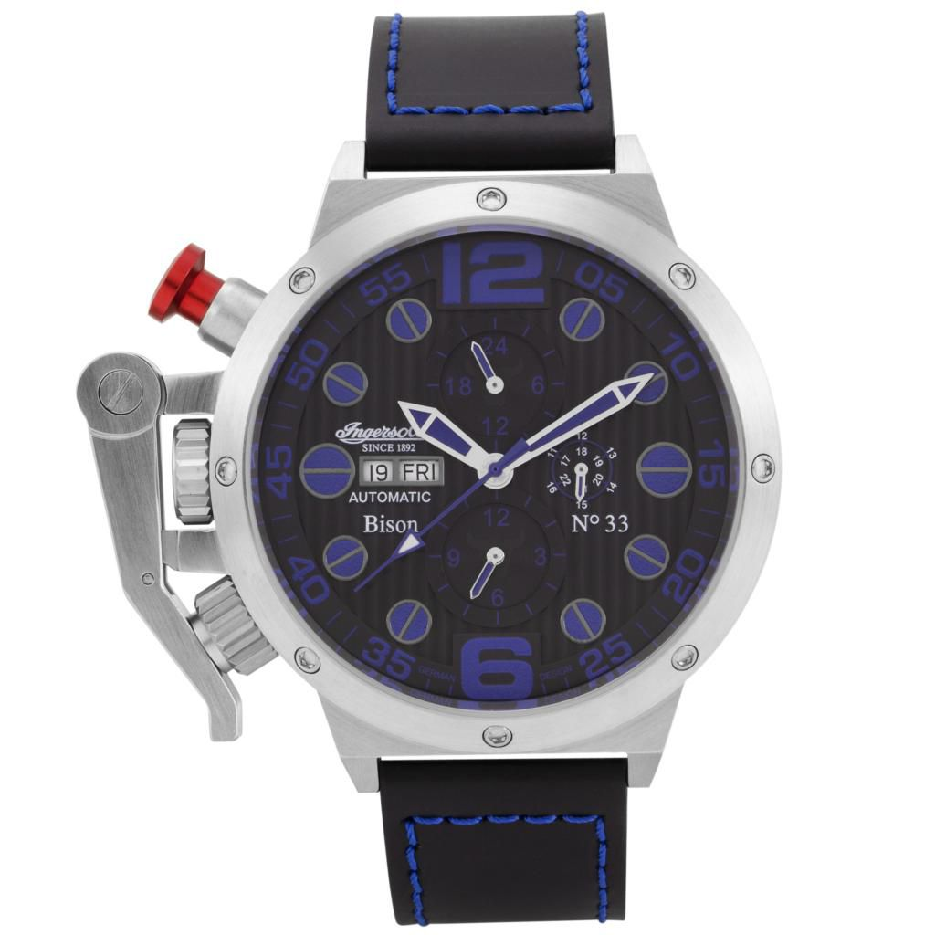 625-703 - Ingersoll 52mm Bison No. 33 Automatic Multi Function Polyurethane Rubber Strap Watch