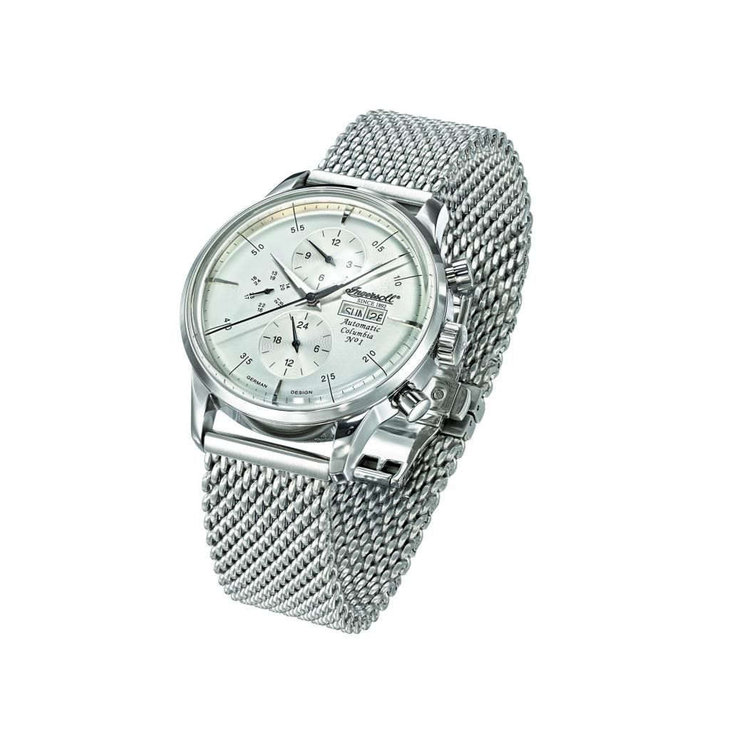 625-707 - Ingersoll 44mm Columbia Automatic Multi Function Stainless Steel Mesh Bracelet Watch