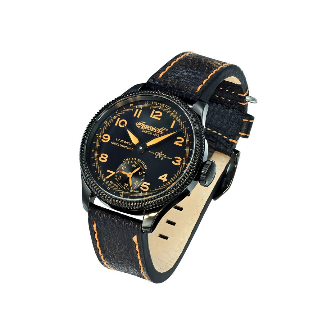 625-708 - Ingersoll Men's Chinook Mechanical Leather Strap Watch