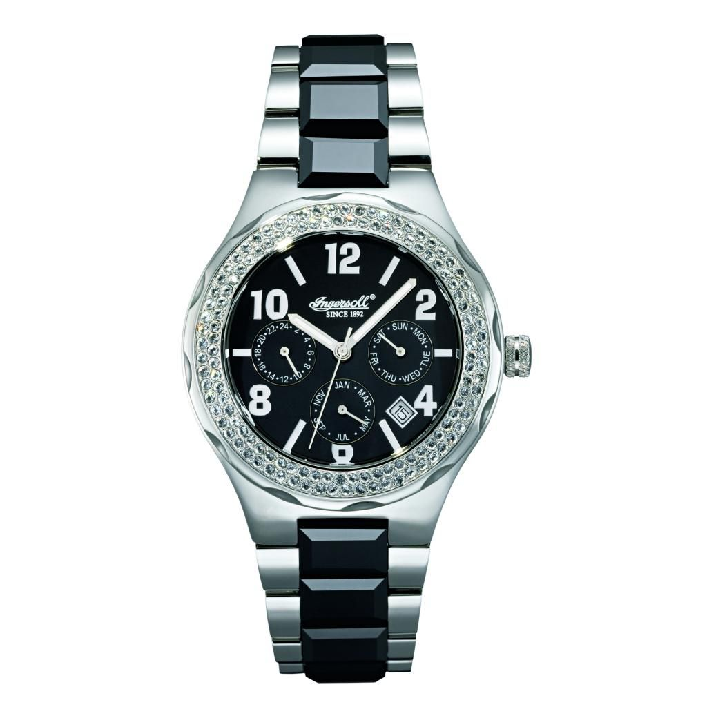 625-711 - Ingersoll Women's Monroe Automatic Multifunction Crystal Accented Bracelet Watch