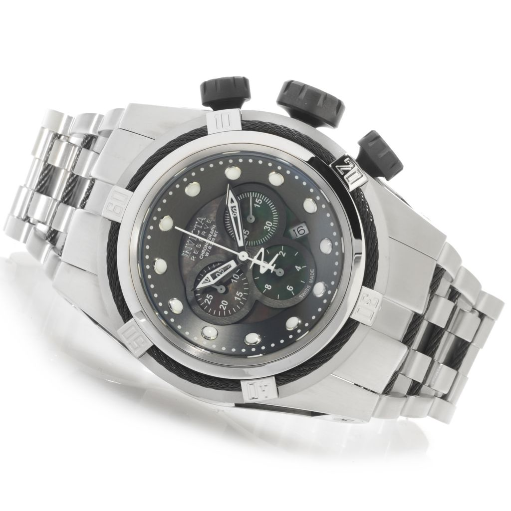 625-721 - Invicta Reserve 53mm Bolt Zeus Swiss Chronograph Bracelet Watch w/ Three-Slot Dive Case