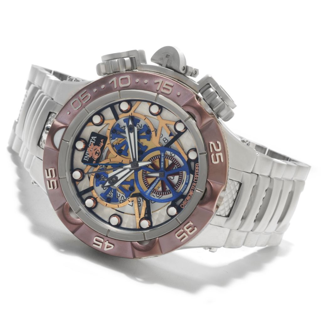 625-749 - Invicta 50mm Subaqua Noma V COSC Swiss Made Quartz Chronograph Bracelet Watch