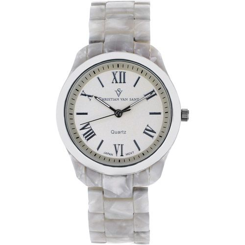 625-782 - Christian Van Sant Women's Granite Quartz Plastic Bracelet Watch