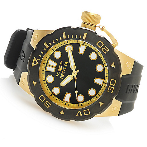 625-797 - Invicta 51mm Pro Diver ''Master of the Ocean'' Quartz Polyurethane Strap Watch w/ One-Slot Dive Case