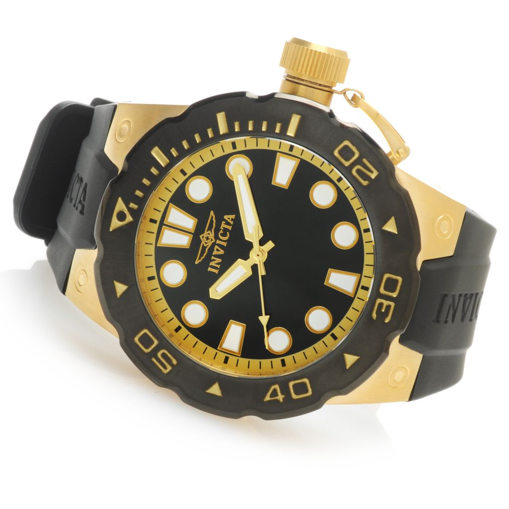 "625-797 - Invicta 51mm Pro Diver ""Master of the Ocean"" Quartz Polyurethane Strap Watch w/ One-Slot Dive Case"