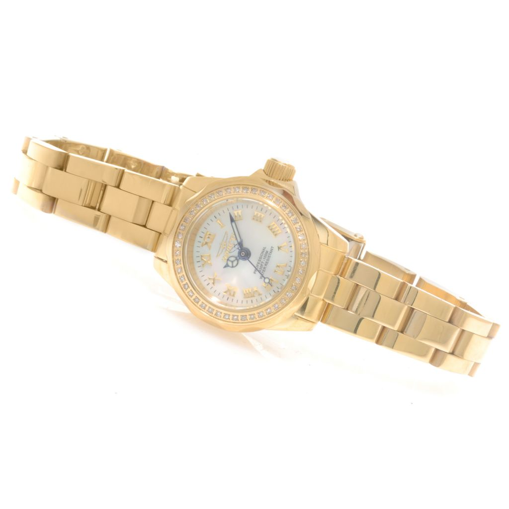 625-798 - Invicta Women's Pro Diver Diamond Debutante Quartz Bracelet Watch w/ Travel Box