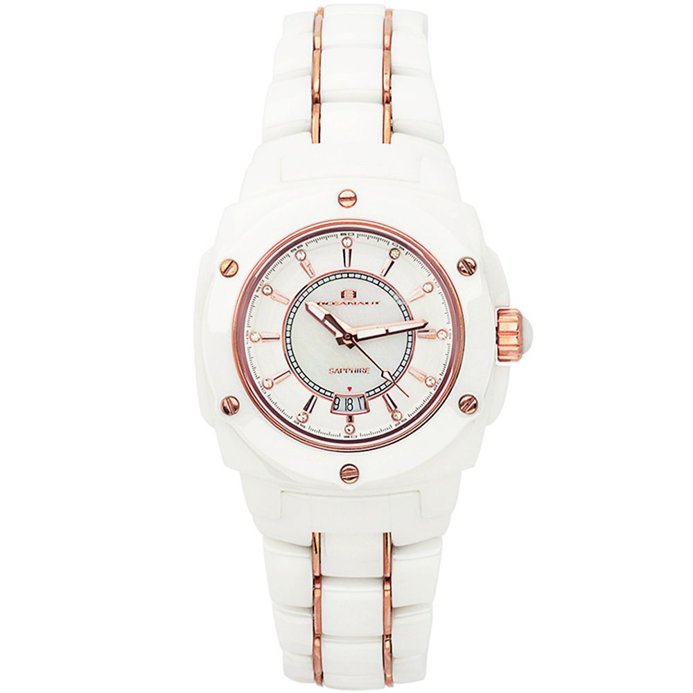625-803 - Oceanaut Women's Quartz Date Ceramic Bracelet Watch