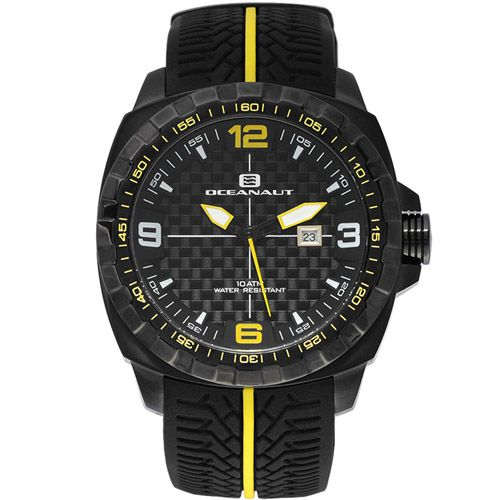 625-812 - Oceanaut 47mm Racer Quartz Carbon Fiber Dial Silicone Strap Watch