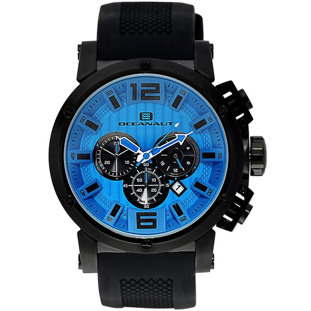 625-822 - Oceanaut 48mm Spider Quartz Chronograph Silicone Strap Watch