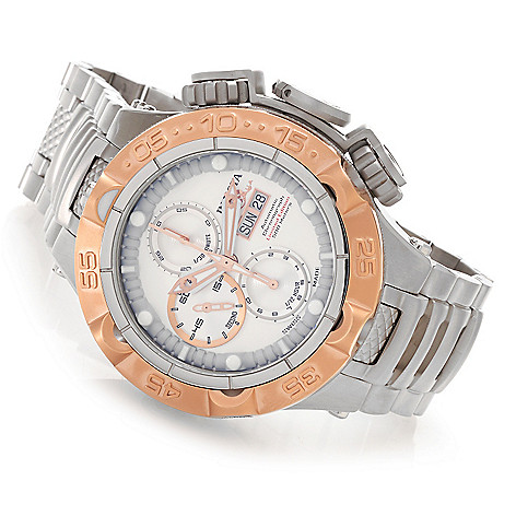 625-837 - Invicta 50mm Subaqua Noma V Swiss Automatic SW500 Chronograph Bracelet Watch