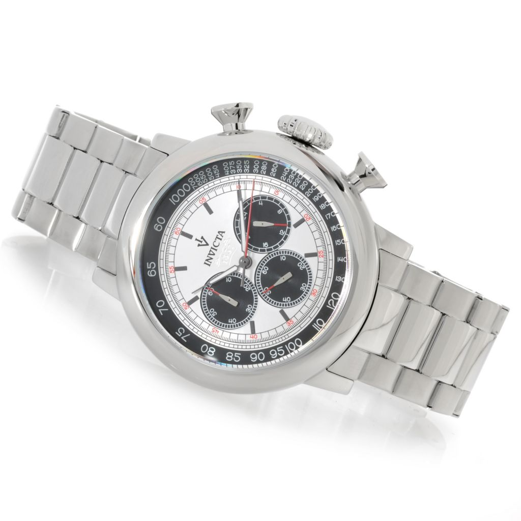 625-841 - Invicta 48mm Vintage Quartz Chronograph Stainless Steel Bracelet Watch