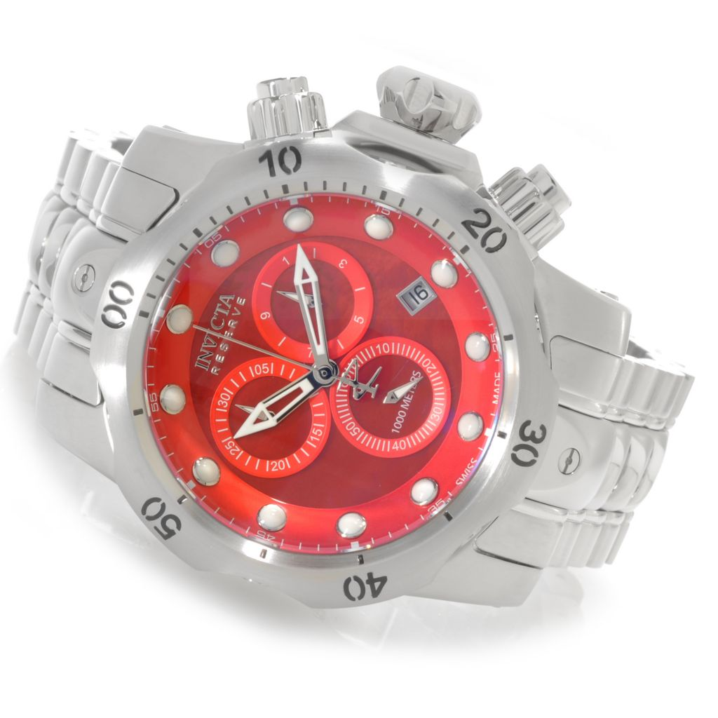 625-843 - Invicta Reserve 52mm Venom Swiss Made Quartz Chronograph Bracelet Watch