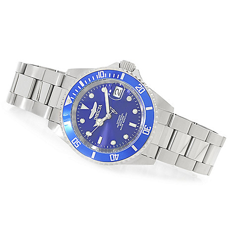 625-879 - Invicta 40mm Pro Diver Automatic Bracelet Watch w/ One-Slot Dive Case
