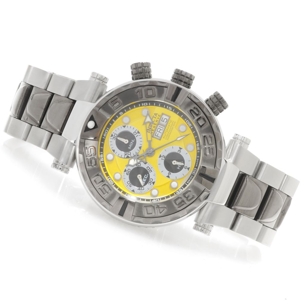 625-887 - Invicta Reserve 47mm Subaqua Noma I Valjoux 7750 Bracelet Watch w/ One-Slot Dive Case