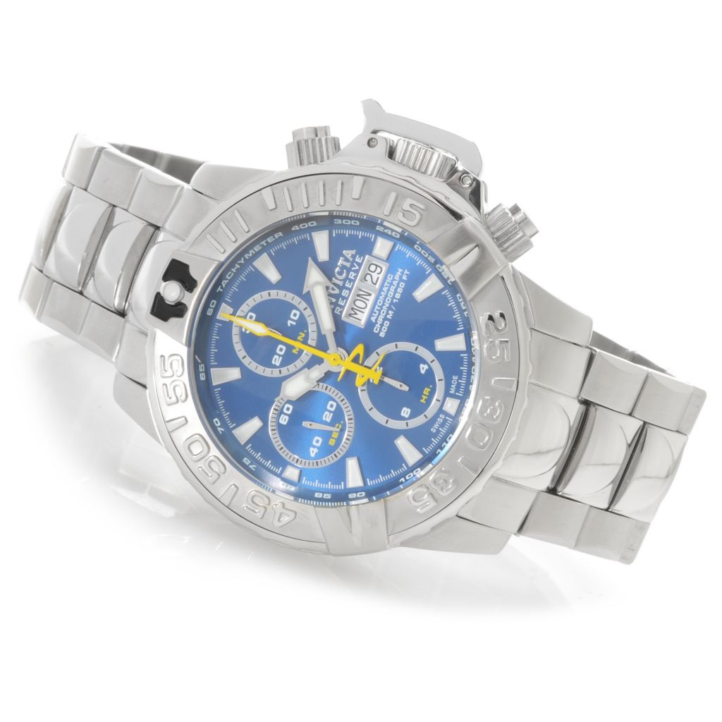 625-888 - Invicta Reserve Subaqua Noma II 47mm Valjoux 7750 Bracelet Watch w/ One-Slot Dive Case