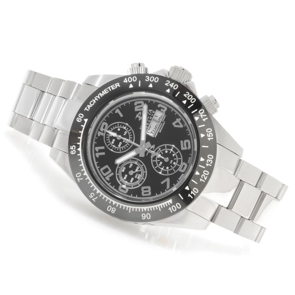 625-889 - Invicta Reserve 45mm Speedway Swiss Valjoux 7750 Bracelet Watch w/ One-Slot Dive Case