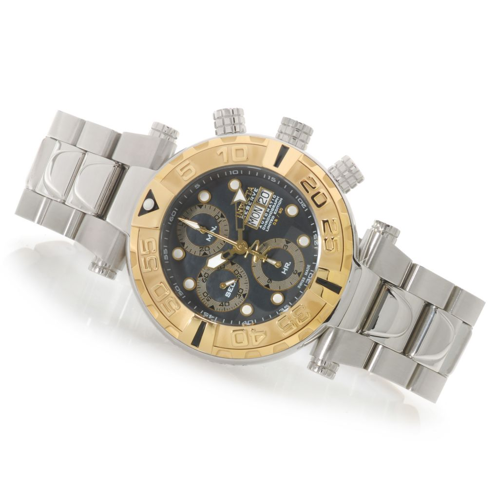625-893 - Invicta Reserve Men's Subaqua Noma I Swiss Valjoux 7750 Bracelet Watch w/ One-Slot Dive Case