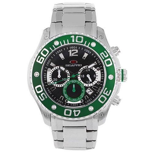 625-898 - Seapro 46mm Dive Quartz Chronograph Stainless Steel Bracelet Watch
