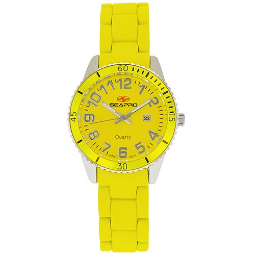 625-913 - Seapro Women's Rainbow Quartz Rubber Bracelet Watch