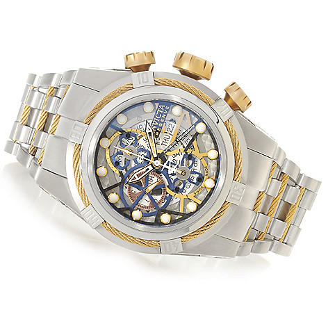 625-928 - Invicta Reserve 52mm Bolt Zeus Swiss Automatic SW500 Chronograph Skeletonized Dial Bracelet Watch