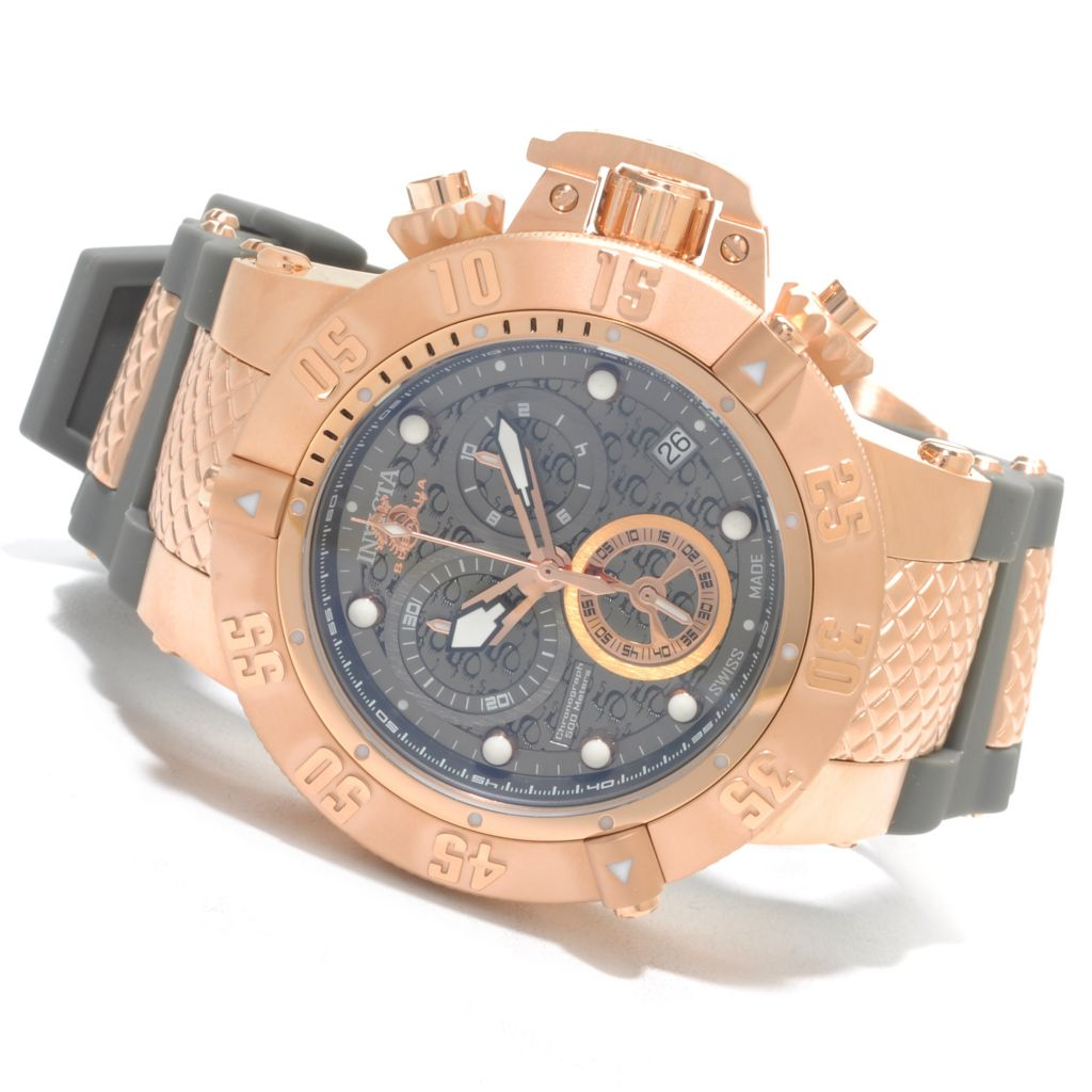 625-930 - Invicta 50mm Subaqua Noma III Swiss Made Quartz Chronograph Polyurethane Strap Watch