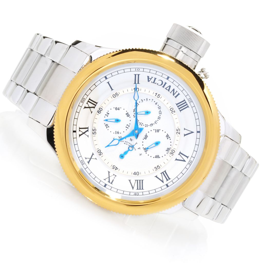 625-931 - Invicta 52mm Russian Diver Quartz Bracelet Watch w/ Eight-Slot Dive Case
