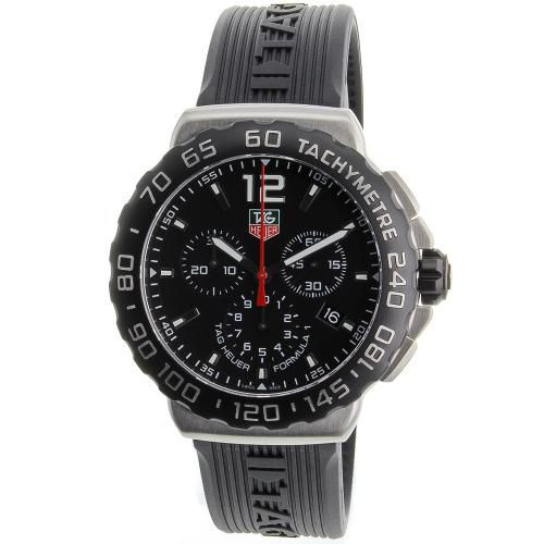 625-949 - Tag Heuer 42mm Formula 1 Swiss Quartz Chronograph Rubber Strap Watch