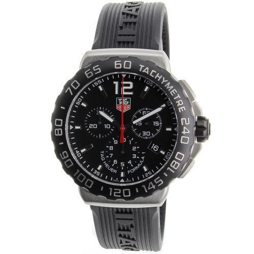 625-949 - Tag Heuer 42mm Formula 1 Swiss Quartz Chronograph Rubber Strap Watch