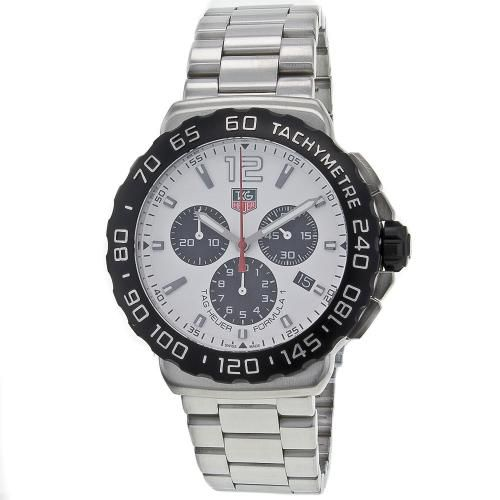 625-950 - Tag Heuer 42mm Formula 1 Swiss Quartz Chronograph Stainless Steel Bracelet Watch
