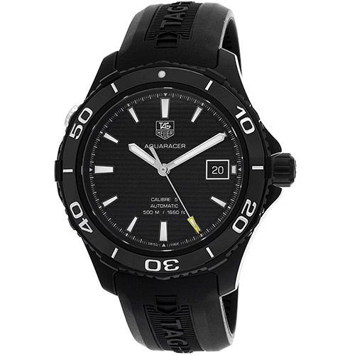 625-951 - Tag Heuer 41mm Aquaracer 500 Swiss Automatic Titanium Case Rubber Strap Watch
