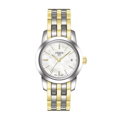 625-954 - Tissot Women's Classic Dream Swiss Quartz Mother-of-Pearl Dial Stainless Steel Bracelet Watch
