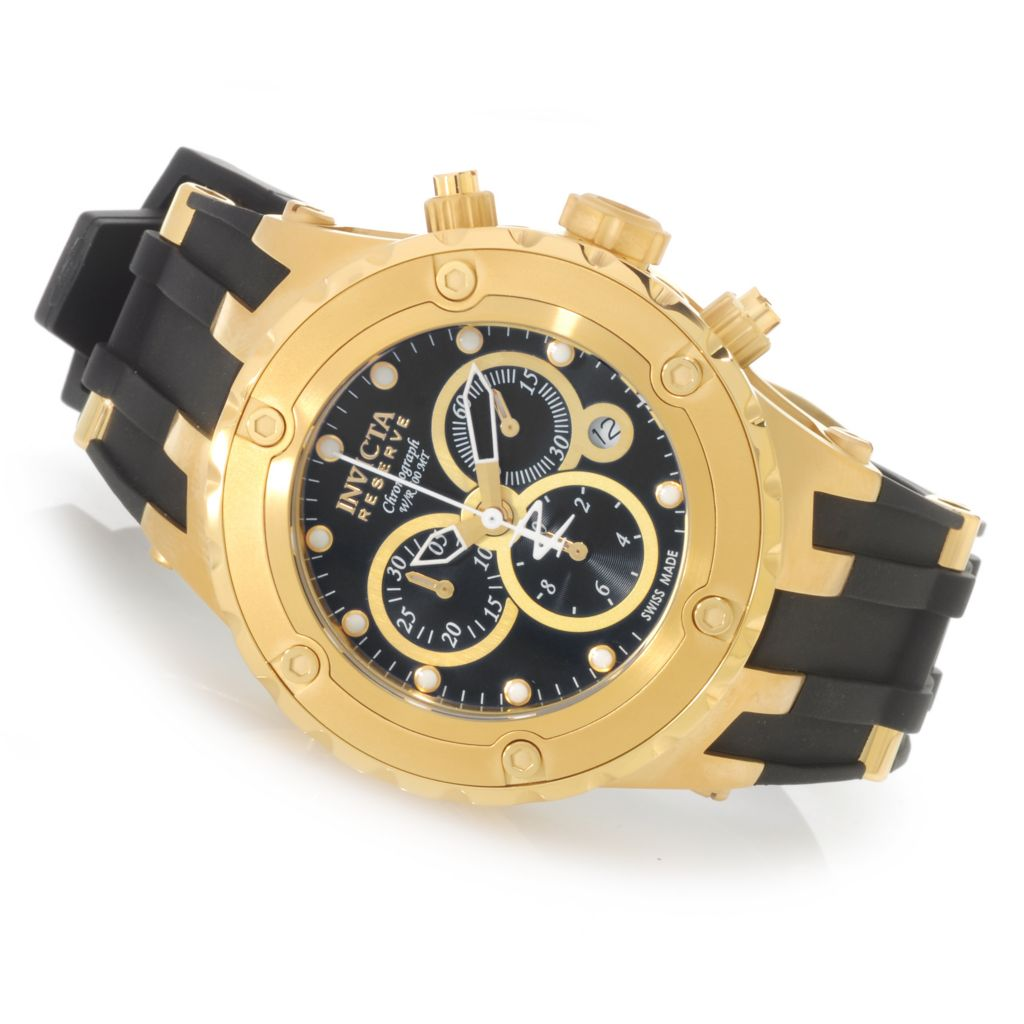 625-976 - Invicta Reserve 44mm Specialty Subaqua Swiss Quartz Chronograph Rubber Strap Watch