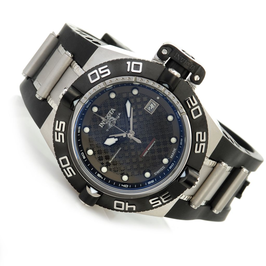 625-979 - Invicta 45mm Subaqua Noma IV Swiss Made Automatic Rubber Strap Watch