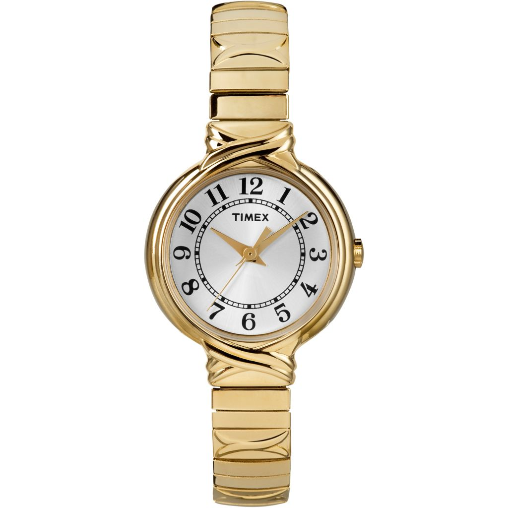 625-985 - Timex Women's Elevated Classics Dress Stainless Steel Expansion Bracelet Watch