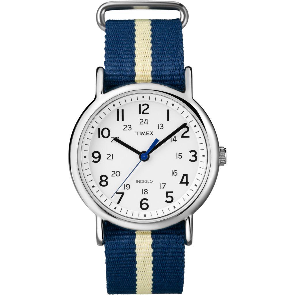 625-988 - Timex 38mm Weekender™ Quartz Slip-Thru Nylon Strap Watch