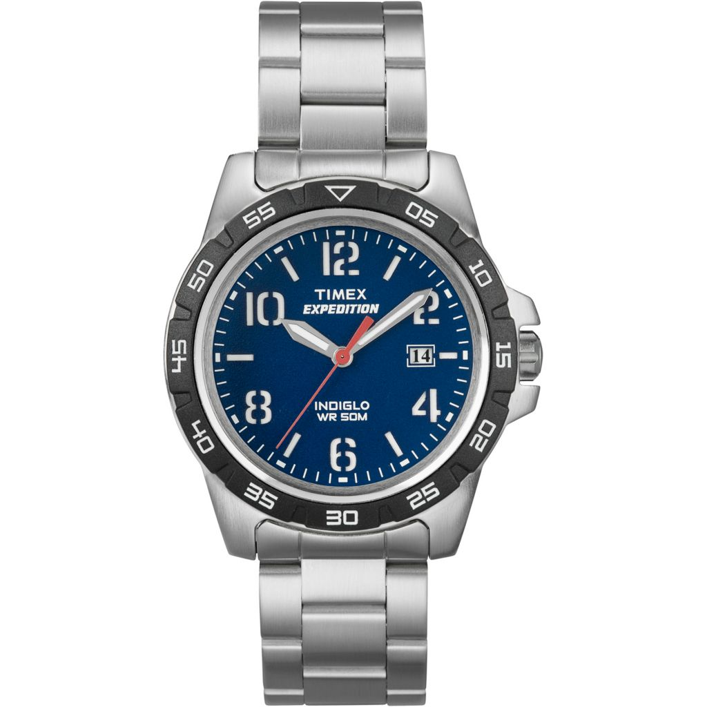 625-990 - Timex 41mm Expedition Quartz Rugged Metal Analog Stainless Steel Bracelet Watch