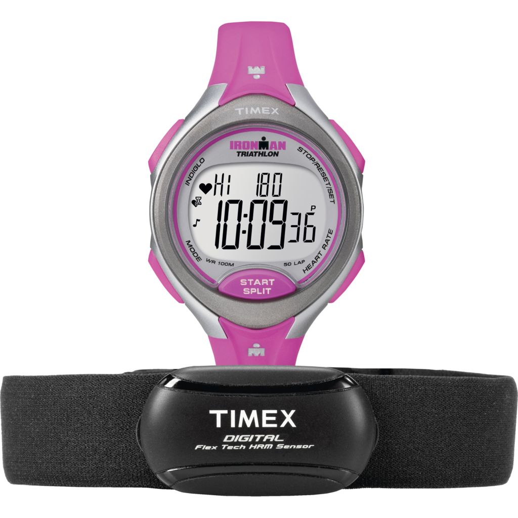 625-994 - Timex Women's Ironman Road Trainer Heart Rate Resin Strap Watch