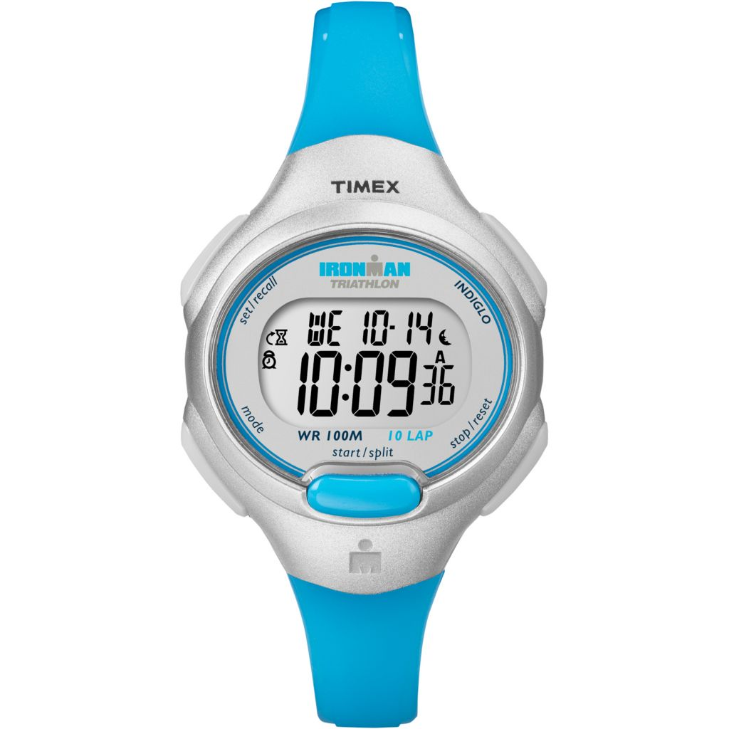 625-997 - Timex Women's Ironman Traditional 10-Lap Digital Quartz Indiglo® Night Light Resin Strap Watch