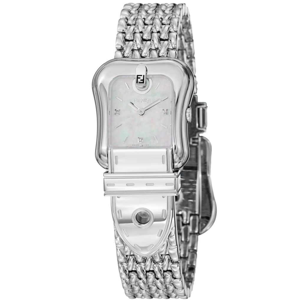 626-016 - Fendi Women's B. Fendi Swiss Made Quartz Mother-of-Pearl Dial Stainless Steel Bracelet Watch