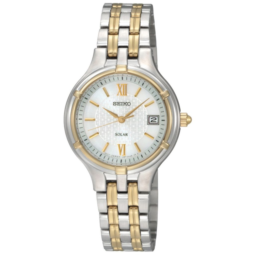 626-047 - Seiko Women's Core Solar Quartz Two-tone Stainless Steel Bracelet Watch