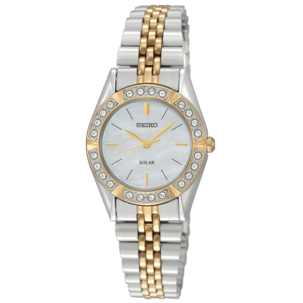 626-050 - Seiko Women's Core Solar Quartz Two-tone Stainless Steel Bracelet Watch