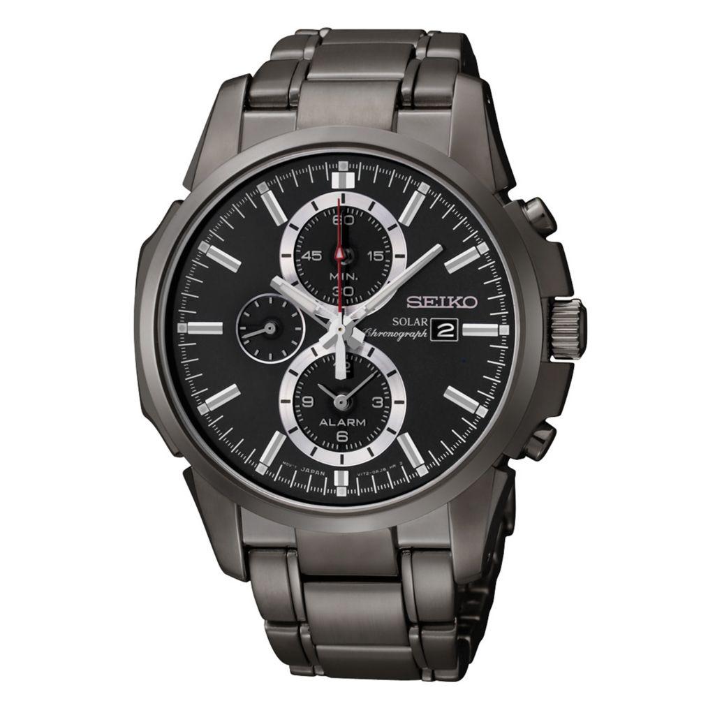 626-055 - Seiko 42mm Core Solar Quartz Chronograph Stainless Steel Bracelet Watch